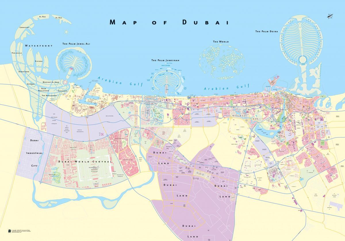 mapa de dubai Dubai mapa offline   Mapa de Dubai offline (Emiratos Árabes Unidos) mapa de dubai