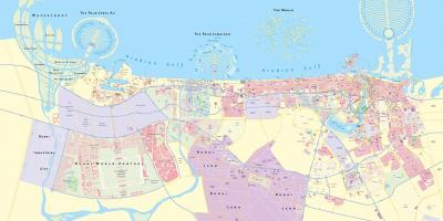 Dubai Mapa Mapa De Dubai Emiratos Arabes Unidos
